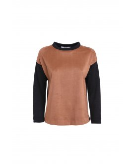 Pull inserto suede