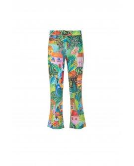 Pantaloni trombetta stampa